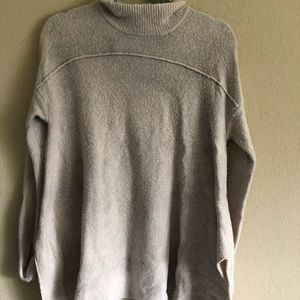 Sweaters - Beige Turtleneck Sweater